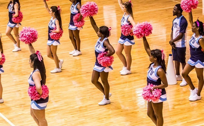 Cheerleading - St. Thomas University Athletics on science map, baseball map, hip hop map, hiking map, curling map, cross country map, basketball map, diving map, triathlon map,